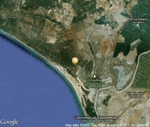 map: Donana National Park