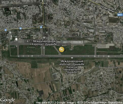 map: Dushanbe Airport
