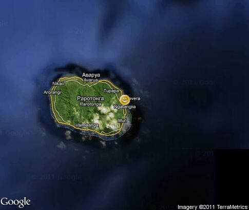 map: Entertainment on Cook Islands
