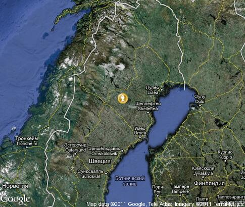 map: Fishing in Sweden
