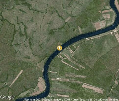 map: Fishing on the river Una
