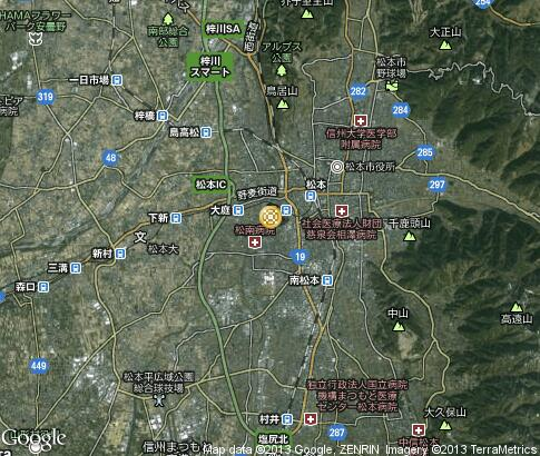 map: Folk Crafts in Matsumoto