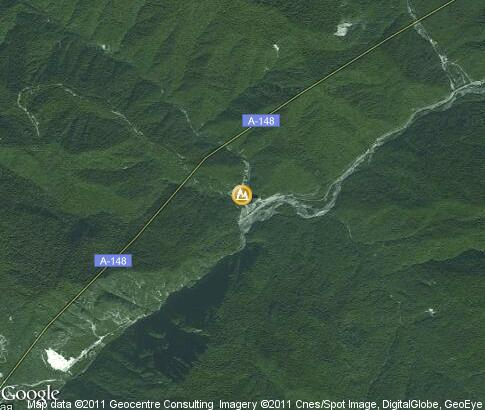 map: Gorge Atskhu, Sochi National Park