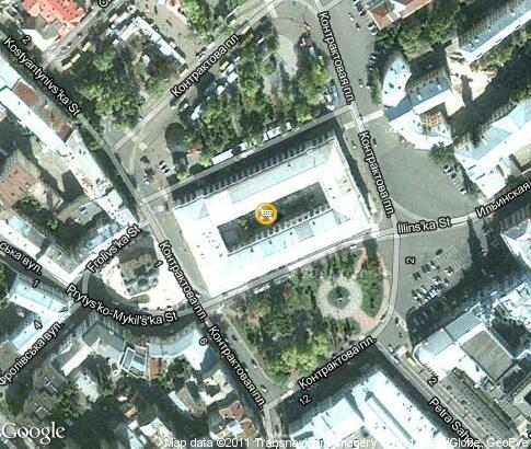 map: Gostinyi dvor in Kontraktovaya Square