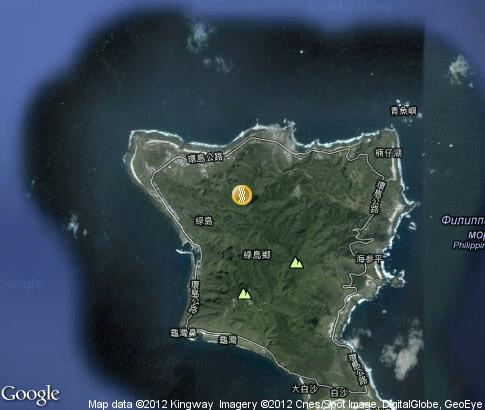 map: Green Island Hot Spring