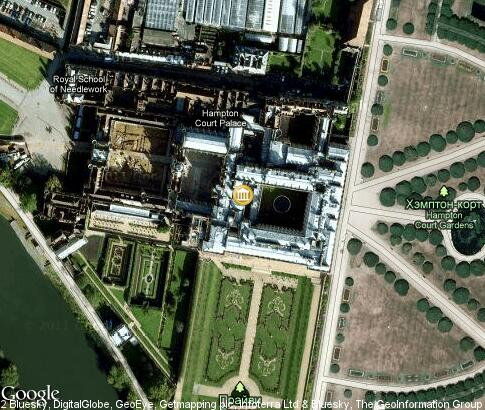 map: Hampton Court Palace