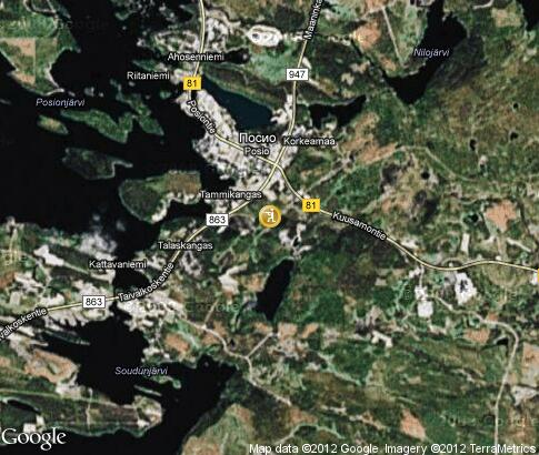 map: Hunting in Posio