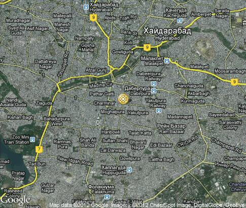 map: Indian wedding in Hyderabad