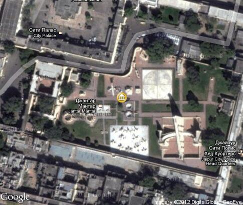 map: Jantar Mantar (Jaipur)
