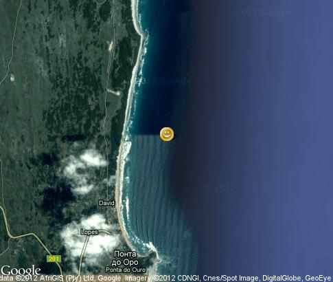 map: Kitesurfing in Ponta do Oura