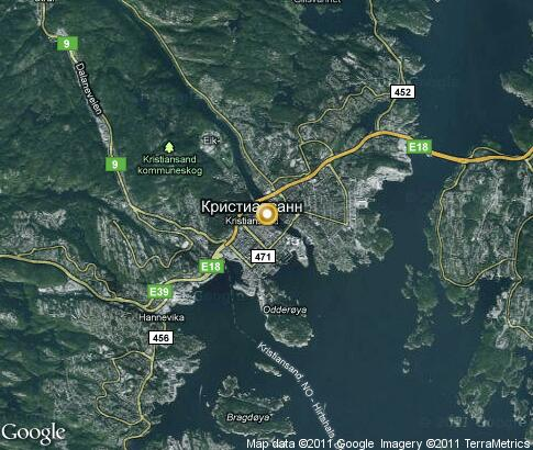 map: Kristiansand