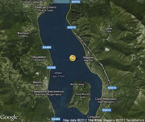 map: Lake Iseo