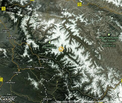 map: The landscape of Kashmir
