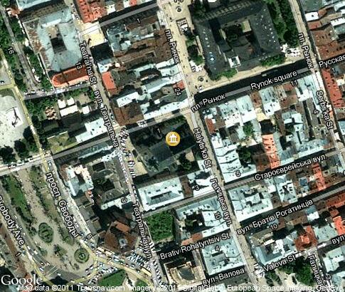 map: Latin Cathedral
