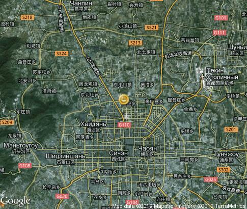 map: Leisure in Beijing