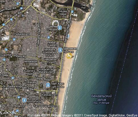 map: Marina Beach