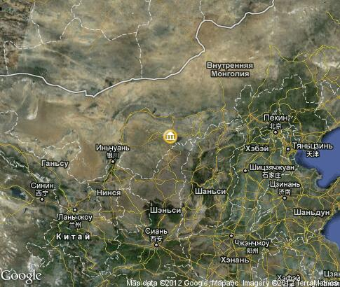 map: Mausoleum of Genghis Khan