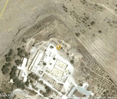 map: Memorial of Moses on Mount Nebo