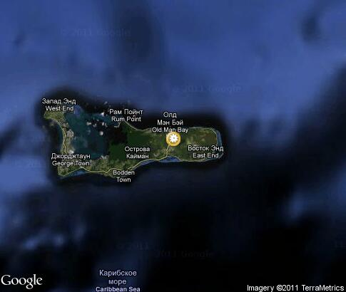 map: Nature of Cayman Islands