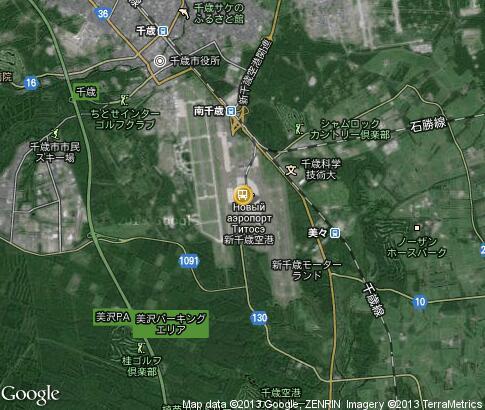 Карта новый аэропорт титосэ