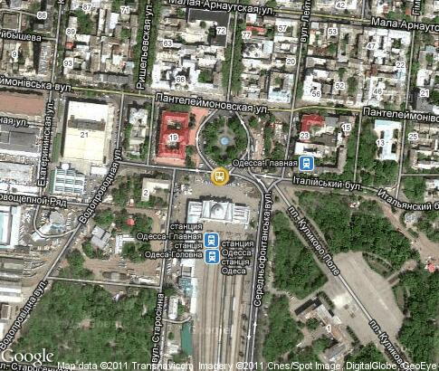 map: Odessa Train Station