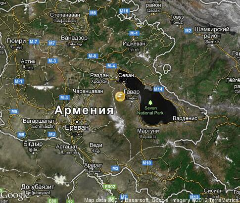 map: Petroglyphs of Armenia