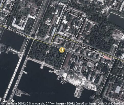 map: Petrovsky Park in Kronstadt