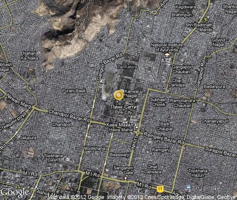 map: Pink City in Jaipur