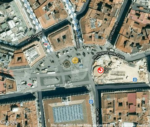 Puerta del sol video popular tourist places satellite for Puerta del sol madrid mapa