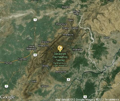 地图: Ranthambore National Park