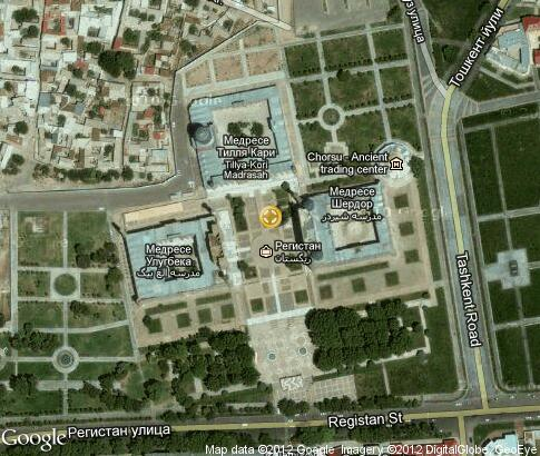 map: Registan Square