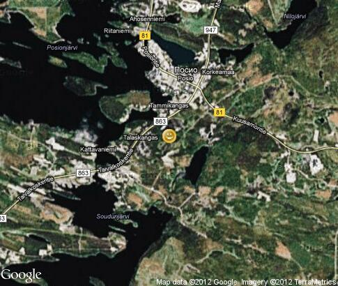 map: Riding on Reindeer in Posio