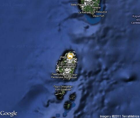 map: Saint Vincent and the Grenadines