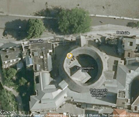 map: Shakespeare's Globe