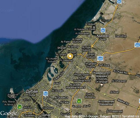 Подробная интерактивная карта шарджа