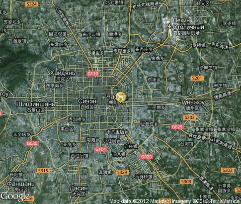 map: Shopping in Beijing