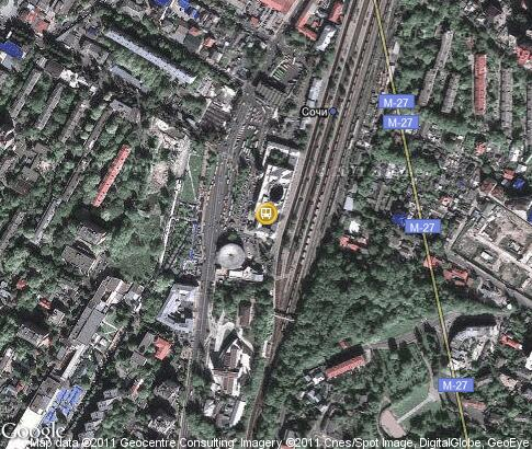 map: Sochi Railway station