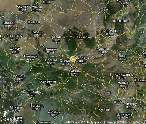 map: Souvenir shopping in Shaanxi