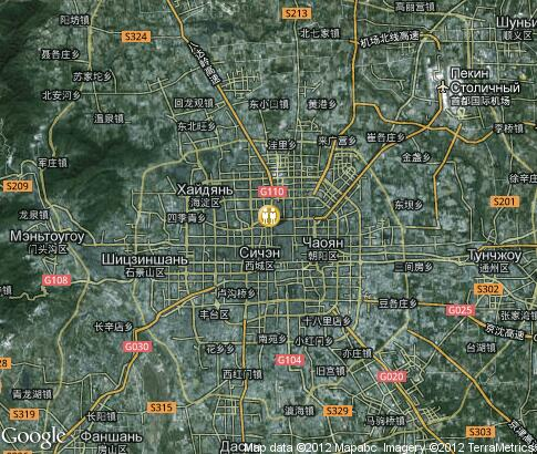 map: Sport in Beijing