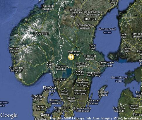 map: Sweden Country Houses