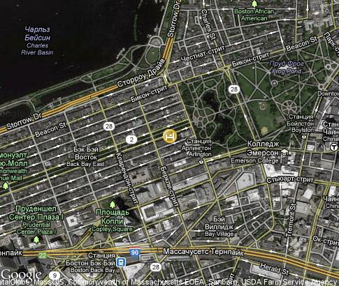 map: Taj Boston