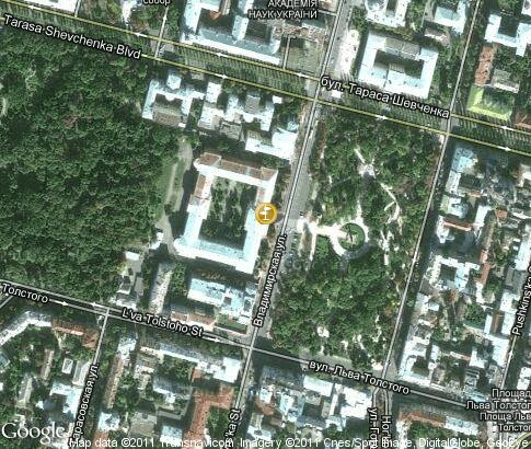 map: Taras Shevchenko National University of Kyiv