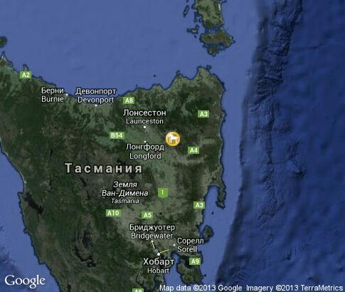 map: Tasmania Zoo