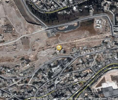map: Temple of Hercules on the Citadel Mountain in Amman