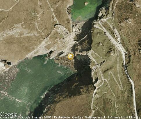map: Tintagel Castle