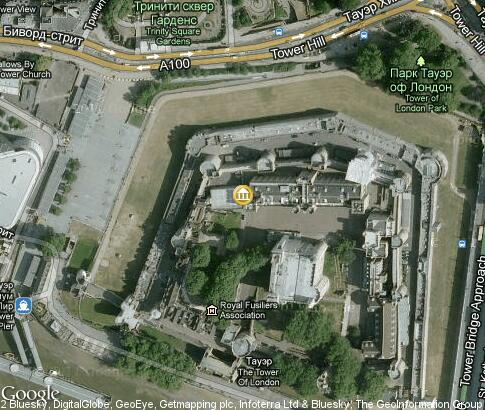 map: Tower of London