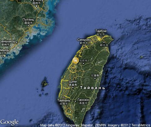 map: Transport Routes Taiwan