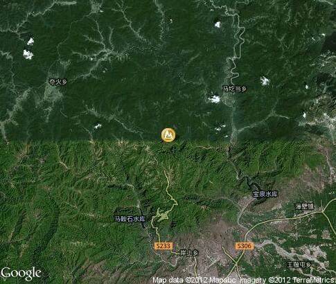 map: Winter Yuntai Mountain