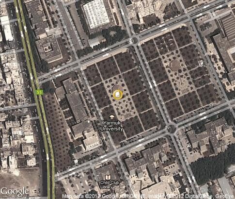 map: Yarmouk University