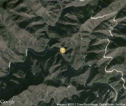 map: Yuntai Waterfall